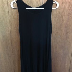 Black, short summer dress